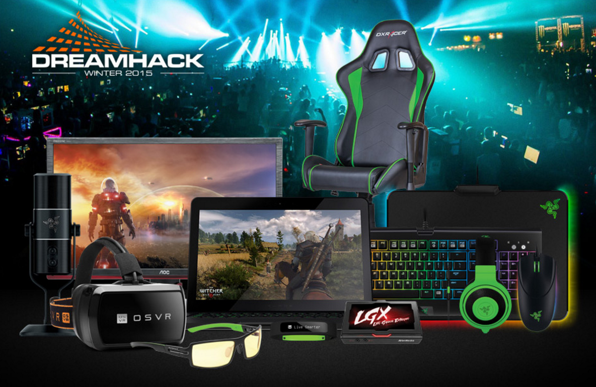Enter the @razer DreamHack Winter raffle and you could win yourself a sweet Razer Blade:  https://t.co/qwBKsq57gl https://t.co/ukvdRfkNGw