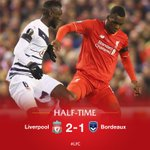 HALF-TIME: That clinical effort from Christian Benteke gives the Reds an advantage at the break at Anfield #LFC https://t.co/mklk8Mrw6x