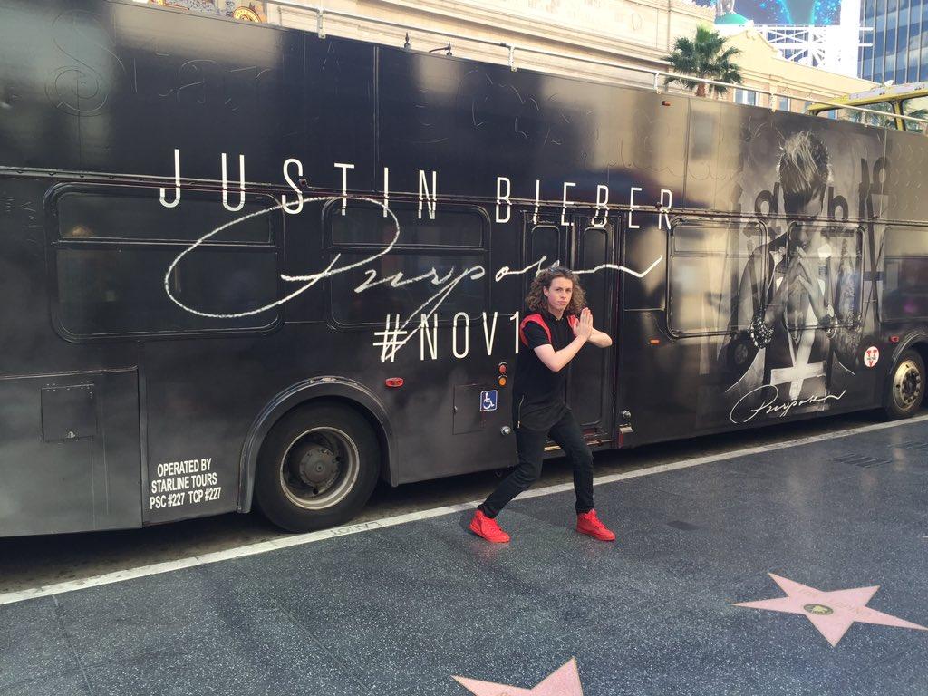 Bieber bus. #PURPOSE @JustinBieber https://t.co/80OT8Gswq0