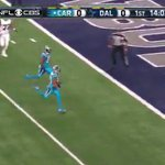VIDEO: Tony Romo throws pick-6 vs. Panthers on opening drive of Thanksgiving game https://t.co/4yRwjaOZvU https://t.co/XHVHs9kJDB