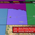 A Winter Weather Advisory is in effect for Knox county from noon Friday until noon Saturday. #WatchKXVA #TXWX https://t.co/tIaKdgTrTX