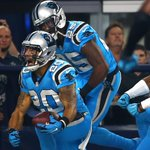 Its all Panthers to end the 1st half. Carolina leads Cowboys, 23-3. https://t.co/5fsGpsNmQF