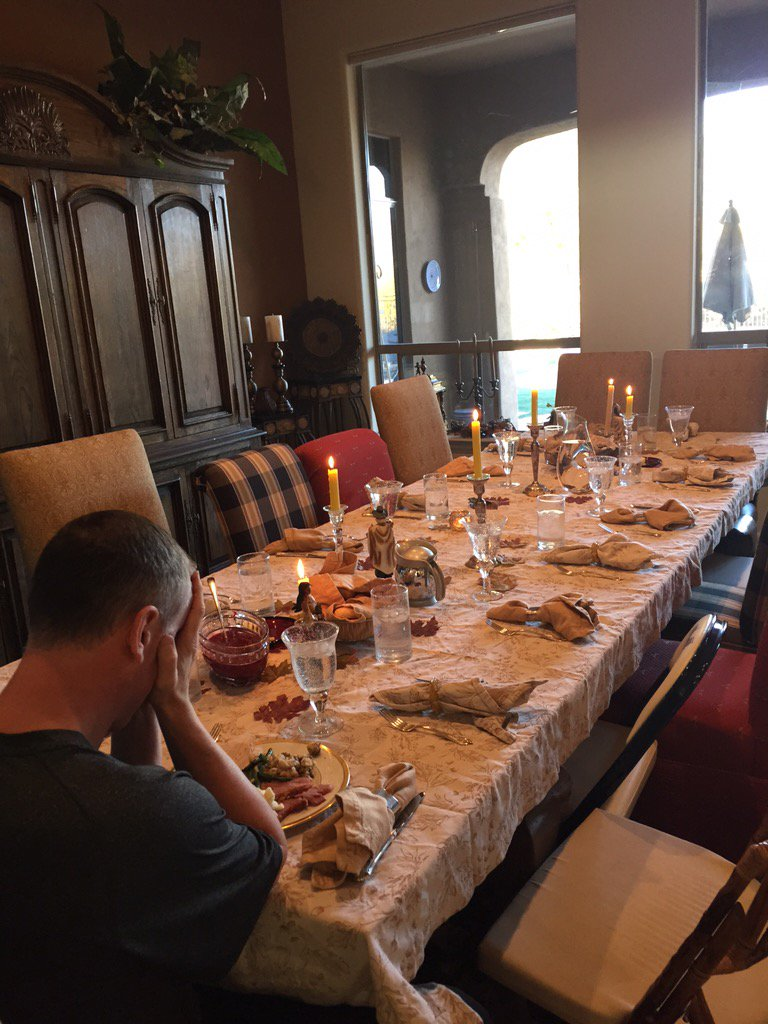 Thanksgiving dinner alone- my whole team fouled out https://t.co/OsMWmKFVxy