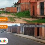 Antes e depois da Av. Alphaville, no Residencial Pontal da Ilha. Todo o bairro recebe melhorias na infraestrutura. https://t.co/CYz1oZaXhM