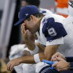 Tony Romo suffered a left collarbone injury (same one he broke earlier this year) and is out the rest of the game. https://t.co/hdjFKMyBX6