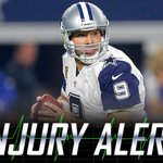 Tony Romo out for remainder of game with left clavicle injury: https://t.co/aSpgNgz0Rs https://t.co/xivinsdUw3