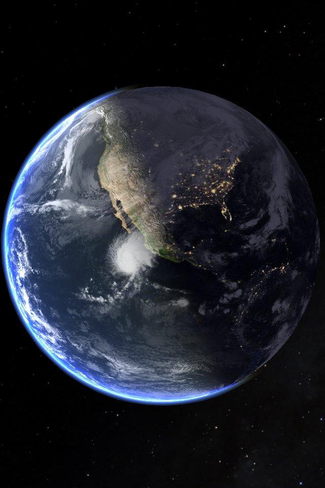 Espectacular. Así se ve México en este momento y la llegada de la noche con el huracán #Sandra de categoría 3. https://t.co/cq969tyDvr