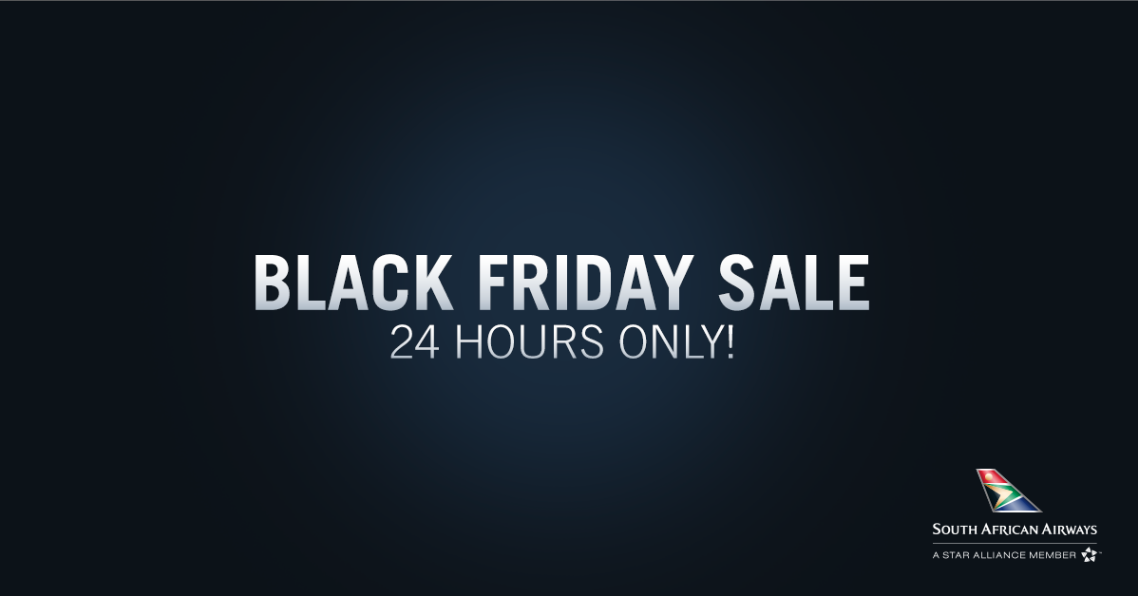 24hr Black Friday Sale! Book your local flights from just R693* one way for today only: https://t.co/YjLLohWd5k https://t.co/dLbbfMCteN
