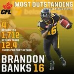 #Ticats @speedybanks87 has been named @CFLs Most Outstanding Special Teams Player of the Year. https://t.co/6Ya5u6ZwzV