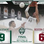 Michigan State remains unbeaten on a historic night for Spartan nation, beating Boston College 99-68. #Izzo500 https://t.co/MF57PGsnbK