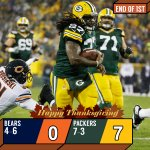 END OF 1ST: @Packers up early. #CHIvsGB https://t.co/34p52Id9Pq