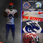 Here is the uni combo well be wearing tomorrow afternoon against San Jose State!  #BTB 🔷🔹🐴🔸🔶 https://t.co/G61OGC1cJ1