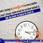 Allah has perfect timing; never early, never late. It takes a little patience and faith, but its worth the wait. https://t.co/eLqCGb6KuJ