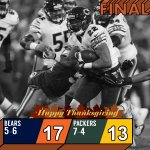 The @ChicagoBears visit Green Bay. And get the Thanksgiving victory. #CHIvsGB https://t.co/W6g1MW1rPj