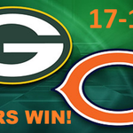 #CHICAGO BEARS BEAT PACKERS 17-13! @ChicagoBears @packers https://t.co/TEkDYQXXaP