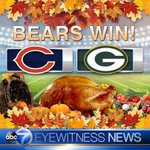 BEARS WIN! #Bears beat #Packers 17-13 to cap off a great Thanksgiving. GO BEARS! https://t.co/jHhuTVwmrc