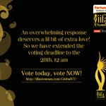 RT @GeminiTV: Tick!!Tick!!Tick!! Time Is Moving On #Voting Is Open Only Till #Midnight Of Today. Click https://t.co/hCXqMIRAab https://t.co…
