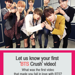 "[#FanCrushFriday #BTS] ""Let us know your first BTS crush Video!"" Tweet that video URL and Zzal w/#FCF_BTS! https://t.co/dFie3EDVGZ"