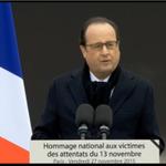 """Fin du discours de @fhollande """"Malgré les larmes, cette génération est aujourdhui devenue le visage de la France."""" https://t.co/gOMEkkpJr1"""