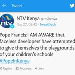 Even the pope knows Hussein Machozi https://t.co/T51fts8snz
