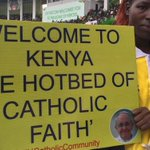 #PopeinKenya: we spotted this tongue-in-cheek poster as crowd gather at the stadium for Pope https://t.co/D91c5BYBhB https://t.co/lHrTYP8Ypp