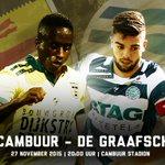MATCHDAY!!Vanavond in een kolkend en uitverkocht #Cambuur stadion de wedstrijd tegen @degraafschap.RT voor de winst! https://t.co/bUvRGszrgp