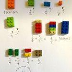 Genial! Bruchrechnen mit Lego! Mathe kann so einfach sein! https://t.co/tdCPYdyo74