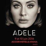 Laffiche du concert dAdele à Paris Bercy les 9 et 10 juin 2016. Mise en vente vendredi 4 décembre. #Adele https://t.co/Sh0in3koTY