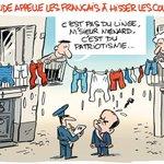 Hollande appelle les français à hisser les couleurs... même à Béziers. (Par Man) https://t.co/kv9MzGZKfo