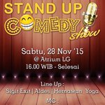 SUC Show 28 Nov 2015 Di Bekasi Square. Menampilkan @sigit_exit @aldes_w @hernawanyoga | MC @dalintaa @godecraharjo https://t.co/sDoFUeliXp