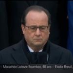 EN DIRECT - La mine grave, François Hollande écoute la longue litanie des noms des victimes https://t.co/LIEhlp6yN7 https://t.co/D52WGgIrYI