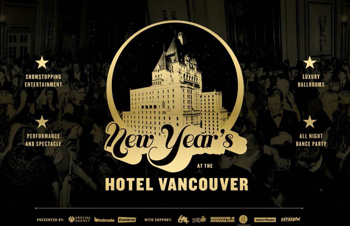 Shout out to #HotelVanNYE sponsors @georgiastraight @vancitybuzz @viawesome @yelpyvr @Do604 https://t.co/ZQlqqFkuzm https://t.co/w7i9bqY2PA