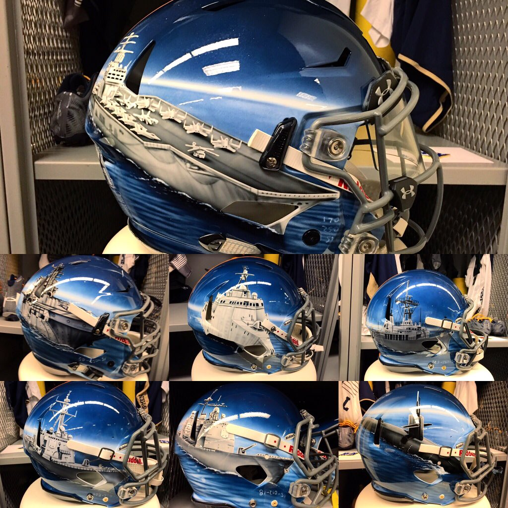 All seven of Navy's helmets, with each design to be worn by a specific position unit. https://t.co/A5i8Gs8UFH