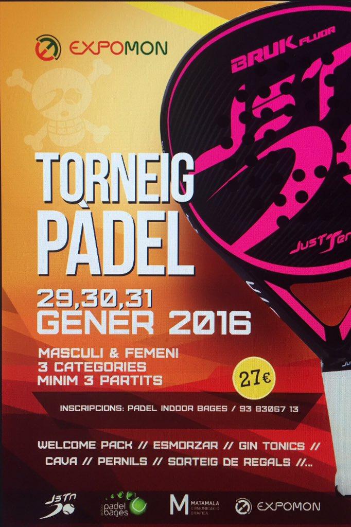 Inscripciones Abiertas!!! #Open @expomon de #Padel en #IndoorPadelBages!!!!!!! Apuntate en info@justten.es Gasssssss https://t.co/U9mG4mFM47