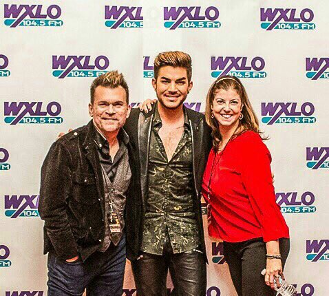 ADAM LAMBERT with WXLO's JEN CARTER and I at the @1045XLO Almost Acoustic Christmas #AdamLambert #TheOriginalHigh https://t.co/BhmxF3loHB