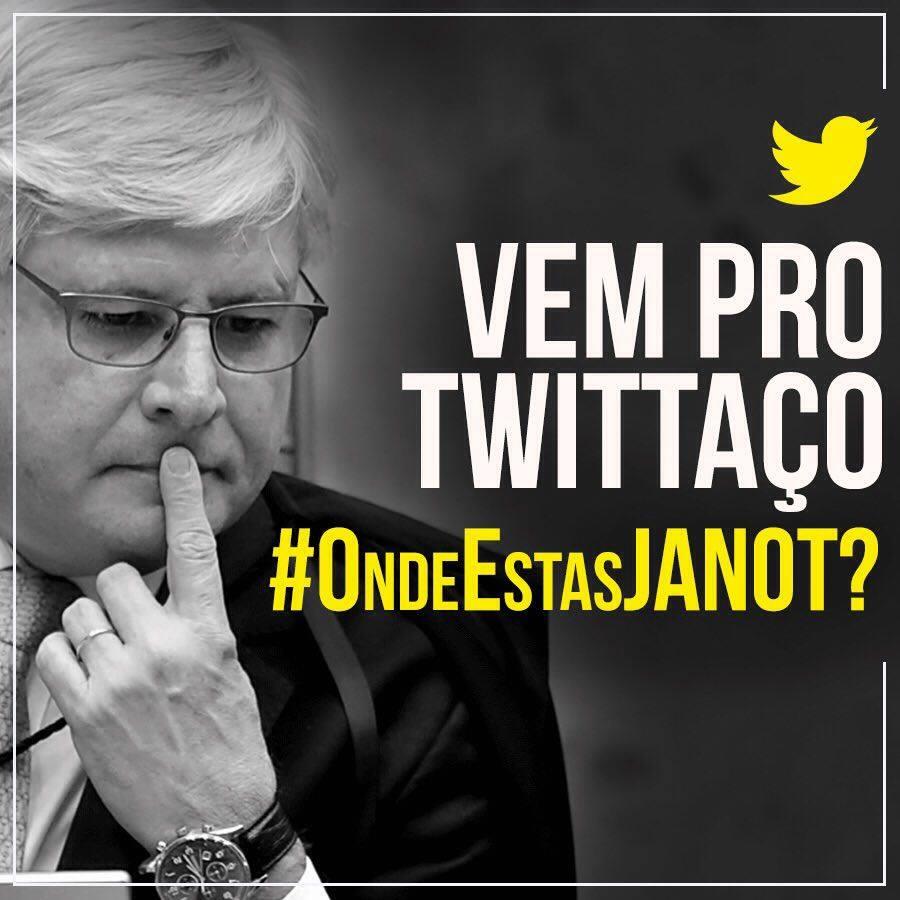 Tuitaço provoca o Procurador Geral da República, que deixa o Cunha solto fazendo o que bem entende #OndeEstasJANOT? https://t.co/AsH9mCkhOt