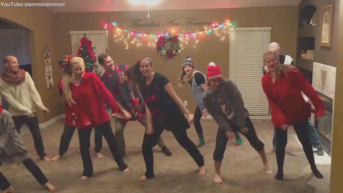 Family S Epic Christmas Dance Just Took Rockin Around The Christmas