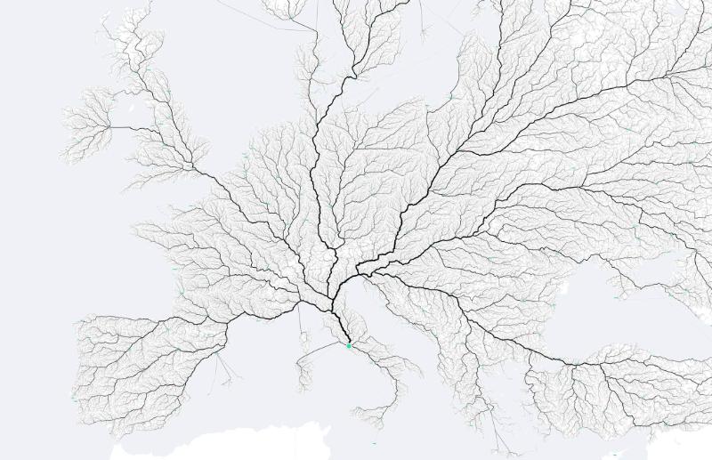 All the roads that *really* lead to Rome. @bndktgrs @moovelLab @philippschmitt https://t.co/bnlb8xqdns https://t.co/OcTywUYXob