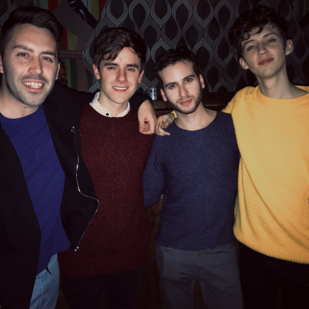 Boys' night out. @LelandOfficial @troyesivan @ConnorFranta https://t.co/YZrij52fAm