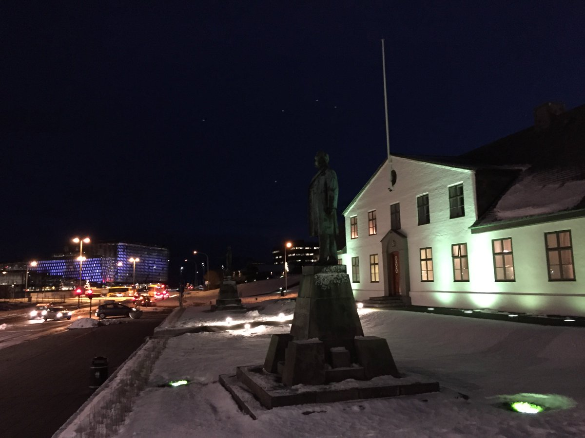 Good morning from Reykjavik, where it's almost 9:30 and the sun hasn't peeked out yet. https://t.co/3I61bJoeRo