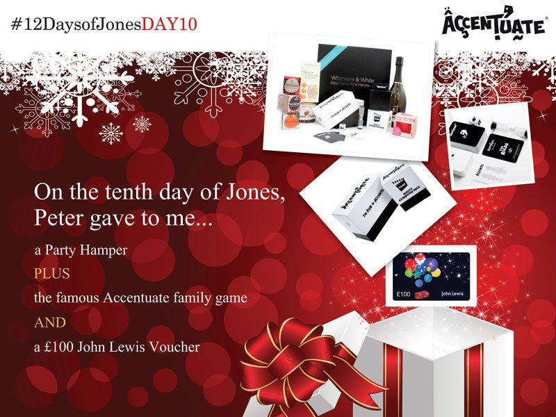 You have until 7pm to win these presents, Follow @AccentuateGame &Tweet me with #12DaysOfJones & #12DaysOfJonesDAY10 https://t.co/ZXH1P4Bxpa