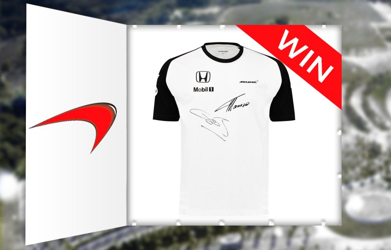 Win a signed @JensonButton & @alo_oficial McLaren Honda T-shirt. Just RT to enter. https://t.co/gvKhDn2Ar9