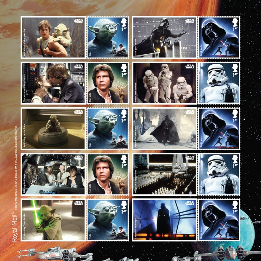 The Force Awakens is released soon. RT & follow by 4pm for a chance to win a #StarWars Special Stamp Sheet. UK only. https://t.co/XUjatt3PWK