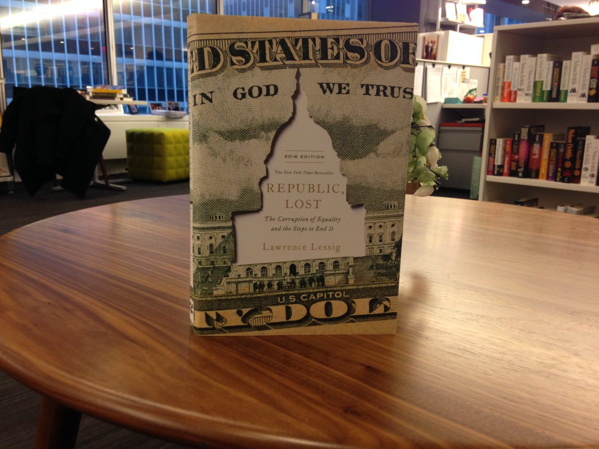 #12DaysOfGiveaways Day 8: RT to win the revised edition of REPUBLIC, LOST by Harvard prof. Lawrence @Lessig https://t.co/GVNphU8oi6