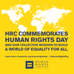 RT @HRC: HRC Honors International #HumanRightsDay Read more: https://t.co/8yEElDH4wD https://t.co/DUavlPE5PU