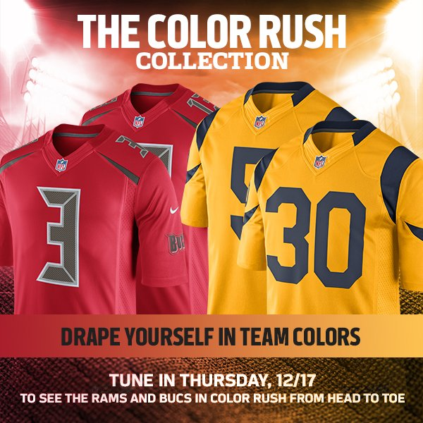Drape Yourself in Team Colors. Shop Color Rush Jerseys Now - https://t.co/yh2Bk4DL5I https://t.co/Ohe0HZE1HQ