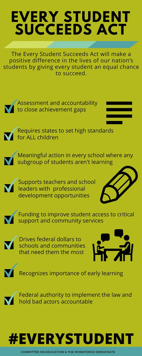 HAPPENING NOW: @POTUS signs the Every Student Succeeds Act, bill to #FixNCLB https://t.co/Fvu5gQyWFD #ESSA #ESEA https://t.co/U5BX6QNG0O