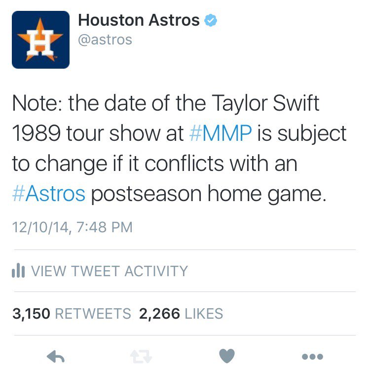 #TBT to one year ago today: the tweet that launched a postseason run. https://t.co/PU7MwEBxu5