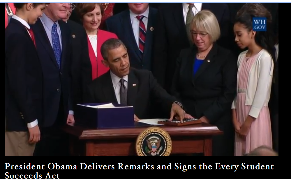 .@POTUS signs #ESSA into law. https://t.co/gVyMJXulgc