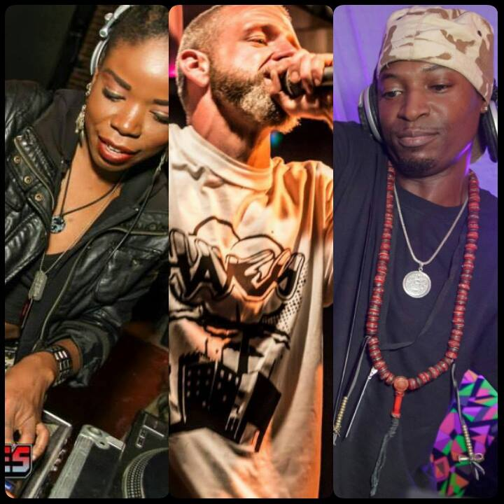 """THE AMEN RA TRIFECTA"" aka @mizeyesis, @ElijahDivine, Meszenjah.  2016 coming near you. #jungle #dnb #drumandbass https://t.co/R6cm2stXk9"